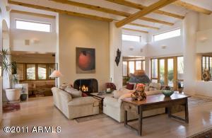 Great Room w fireplace & Very open