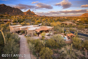 Nestled onto Black Mountain in gated Black Mountain Foothills neighborhood. Views of Boulders and Valley.