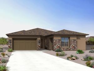 Photo rendering of same floor plan elevation.