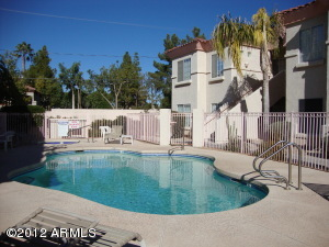 View toward unit from Pool area