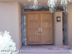 Double door front entry