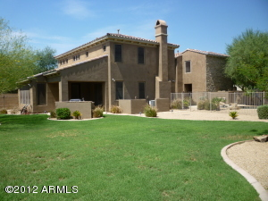 One of the largest back yards in Aviano with pool. Lots of room to play.