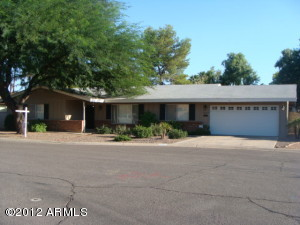 Desert front with mature shade trees