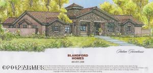 Artists rendering of the elevation. Lots of stone and a large porch.