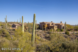 View of the home from Saguaro Forest Drive.