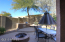 Backyard with firepit and Barbeque