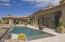Pool, Spa & Ramada with fireplace all with views to valley & sunsets