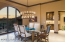 Spacious Dining Room with Views west & adjacent Wet Bar