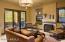 Guest Casita Living Room & Private Patio Views North