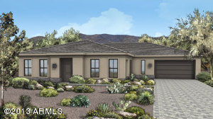 Exterior Rendering of Elevation A-color may vary, landscaping not included