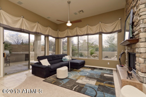 Expansive windows to outdoors & slider to outdoor patio, built in BBQ, Elevated Spa, heated pool, banco bench for friends & family gatherings.