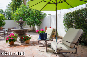 Come relax in your resort style easy maintenance rear yard complete with sparkling fountain!