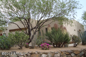 All natural landscaping with rock edging