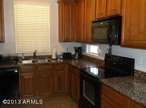 kitchen with Granite,18 inch tile floors