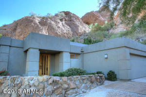 Home is built into the side of Camelback Mountain. VIEWS!!!!