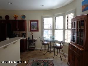 eat in kitchen with new wood shutters