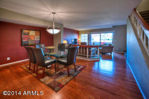 Stunning hardwood flooring adorns entire first level of this TOP QUALITY updated town-home.