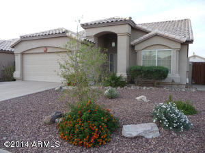 1756sf Three Bedroom and two full baths. Pebble-tec play pool and easy care desert landscaping in front and back.