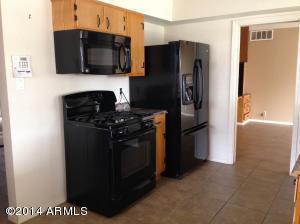 Gas stove, microwave, refrigerator
