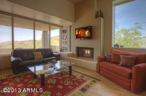 Open floor plan with Great room offering Panoramic Mountain & Sunset Views.