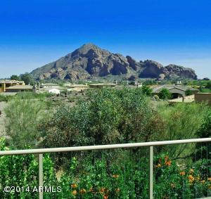 View of Camelback from Deck, Family room and Master Bedroom