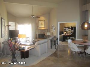 Great Room with view to double-door den -- great sense of space!