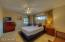 The third bedroom is oversized with double closets and ceiling fan.