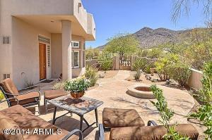Excellent mountain views from the front courtyard that leads to the front door.