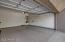 Large, 2 car garage w/ recently epoxied floor.