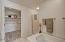 Master bathroom w/ separate shower & large tub!
