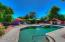 The pebble tech pool with plenty of space for seating and entertaining.