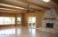 Great Room w/ Grand Rock Fireplace and Wood Beams