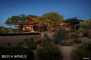 Gordon Rogers, an award winning architect, created this beautifully crafted home in the Painted Sky Village of Desert Mountain.