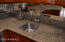 Under mount sink with sleek faucet