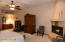 Spacious additional area of room with display niche above perfect for private retreat time.