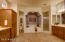 Wide open. Separate vanities, shower and large soaking tub.