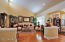Wainscoting, vaulted ceiling, warm and inviting