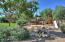 Redwood, fire pit area, slide