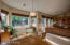 The open space including the family room, kitchen and breakfast area make for easy living and wonderful floor plan.