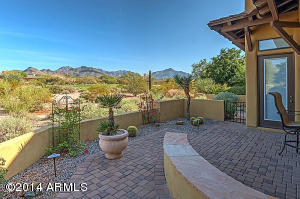 Relax on the private patio and enjoy mountain and golf course views. Home backs to the 7th hole of the DC Ranch Country Club course.