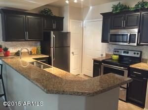 Kitchen with Slab Granite