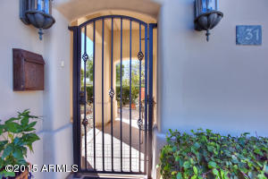Private gated front entrance to main house & guest casita