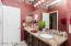 Granite vanity & double sinks