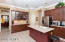 Island kitchen with buffet cabinetry