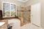 Separate shower & garden tub