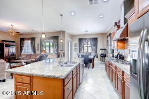 Kitchen open to great room & breakfast nook; spacious granite counters & island
