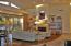 OPEN & BRIGHT LIVING ROOM AREA W/HARDWOOD FLOORS & TRAVERTINE FIREPLACE
