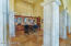 Wine bar with Scotsman ice maker, under cabinet refrigerators, and refrigeration cedar wine room.