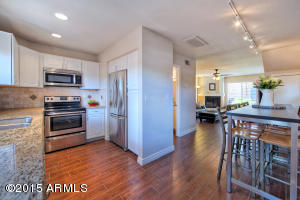 Updated Kitchen, Open to Dining + Living Areas