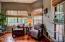 breakfast nook/seating area off kitchen